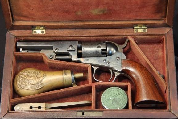 Cased Colt Model 1849 Percussion Pocket Revolver