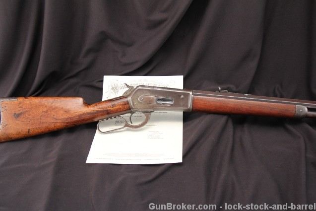 Winchester Model 1886 .38-56 WCF Lever Action Manufactured 1892 – Antique Rifle – w/ Cody Letter