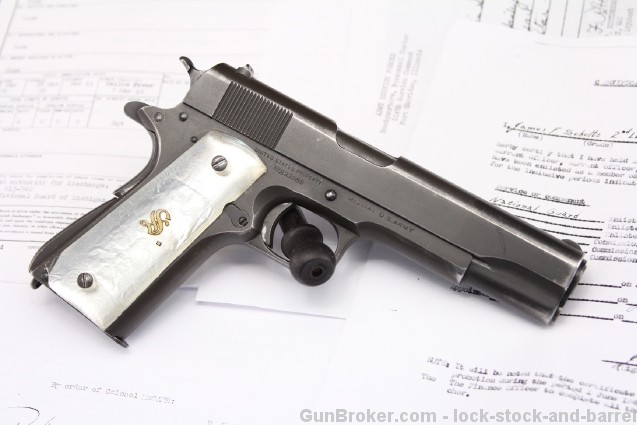 1942 U.S. WWII Colt Model 1911A1 Documented Bringback