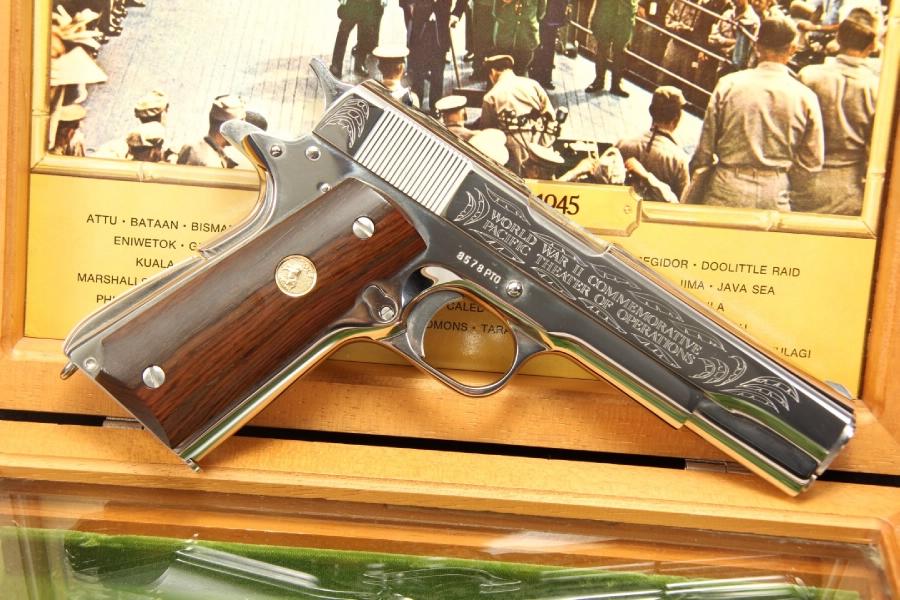 Colt 1911 WWII Pacific Theater Commemorative .45 ACP 1911-A1 – In The Box – C&R OK
