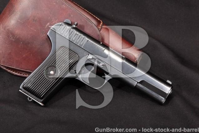 1941 Russian Tula TT-33 Tokarev Pistol & Holster Blue 4 1/2″ Semi-Auto Pistol 7.62mm, TT33 C&R