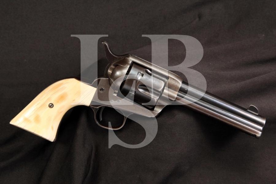 1st Generation 1873 Colt SAA .41 Long Single Action Army Blackpowder Frame Revolver, Antique