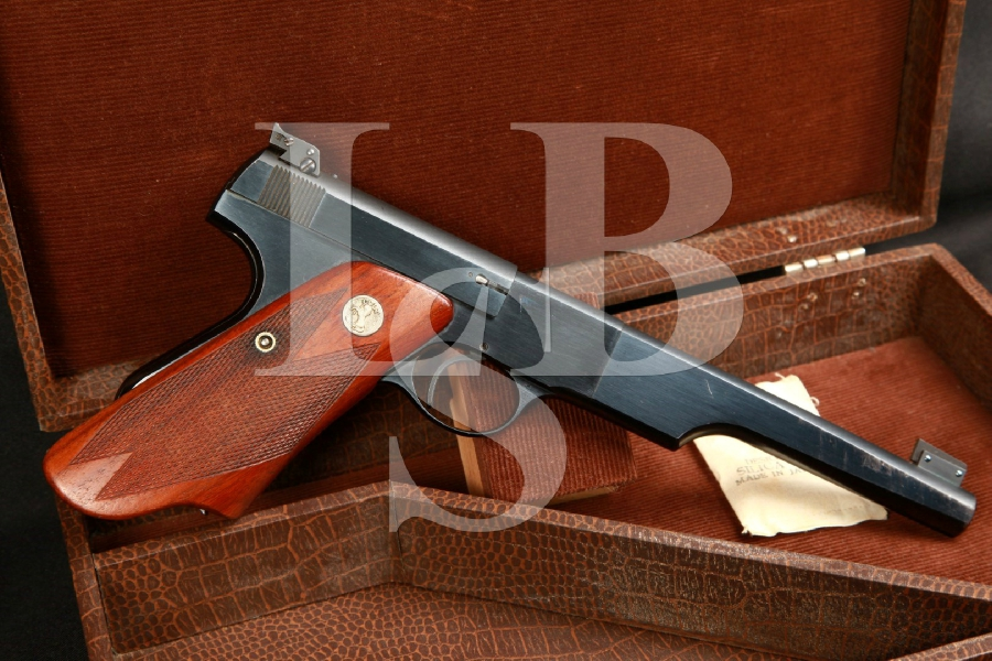 1st Series Colt Woodsman Match Target 'Bulls Eye' Target Pistol Elephant Ear Grips & Case, MFD 1939 C&R