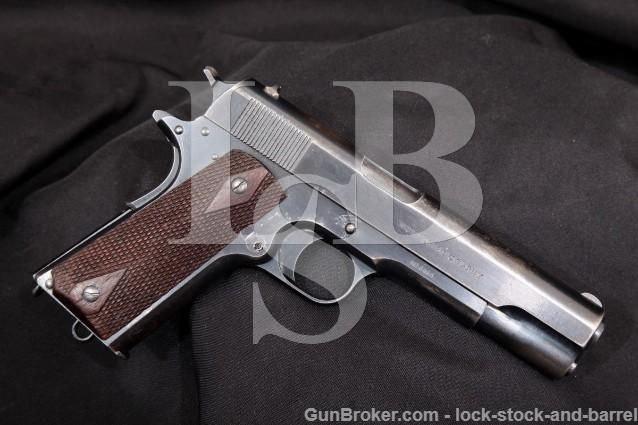 "1st Year! Colt 1911 Government Model U.S. Army .45 Blue, 5"" SA Semi-Automatic Pistol, MFD 1912 C&R"