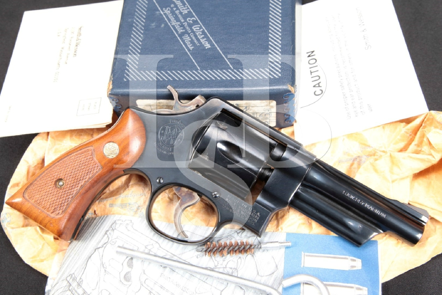 "1st Year Production Smith & Wesson S&W Model 520 'The .357 Magnum Military & Police', Blue 4"" RARE Double Action M&P Revolver & Box, MFD 1979"