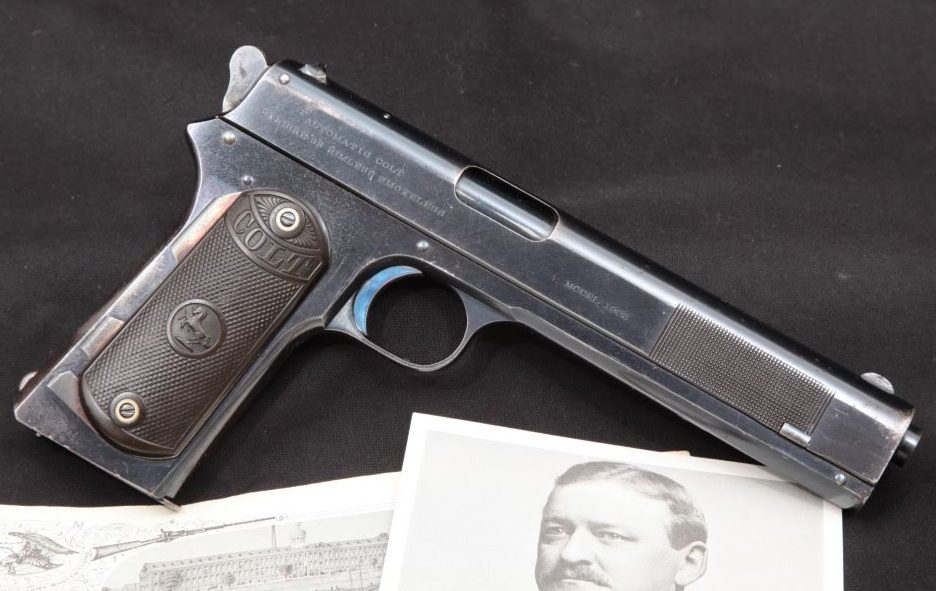 1904 President Skinner of Colt's, Colt Model 1902 Military Semi-Auto Pistol & Ideal Shoulder Stock Attachments