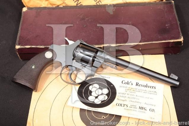 Colt Police Positive Target 22 LR Revolver '33 C&R