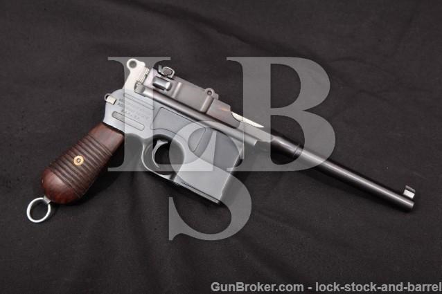 Federal Ordnance C96 Broomhandle Cartridge Counter .30 Mauser 7.63x25mm Semi-Auto Pistol MFD Ca. 1988