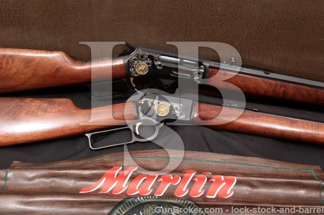 Marlin Brace of One Thousand 39 & 336 Cased Set 100 Years of American Gunmaking Commemorative 1970