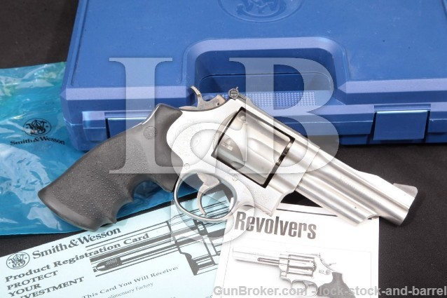 Smith & Wesson S&W 629-4 Mountain Gun & Box 103653 Stainless 44 Mag Double Action Revolver, MFD 1993