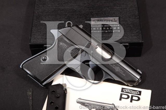 Walther PPK/S .380 ACP Semi-Auto Pistol, MFD 1972