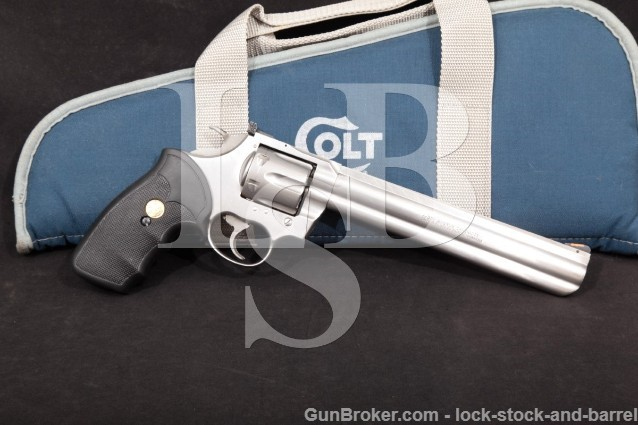 "Colt King Cobra Model AA3080 8"" Stainless Steel .357 Magnum Revolver, MFD 1989"