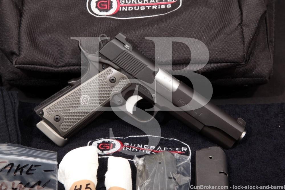 Guncrafter Industries Model No. 1 .50 GI & .45 ACP Semi-Auto Pistol, MFD 2011