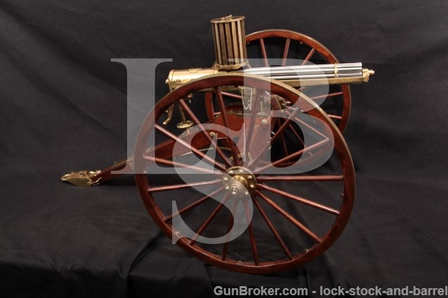 Karl Furr & Paul Kuhni Miniature Colt Model 1874 Gatling Gun .22 Short, MFD 1975