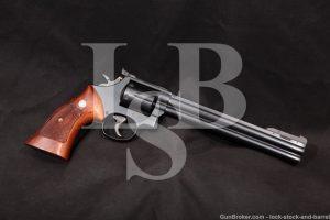 """Smith & Wesson S&W Model 586-M 8 3/8"""" Silhouette .357 Magnum Revolver, MFD 1986"""