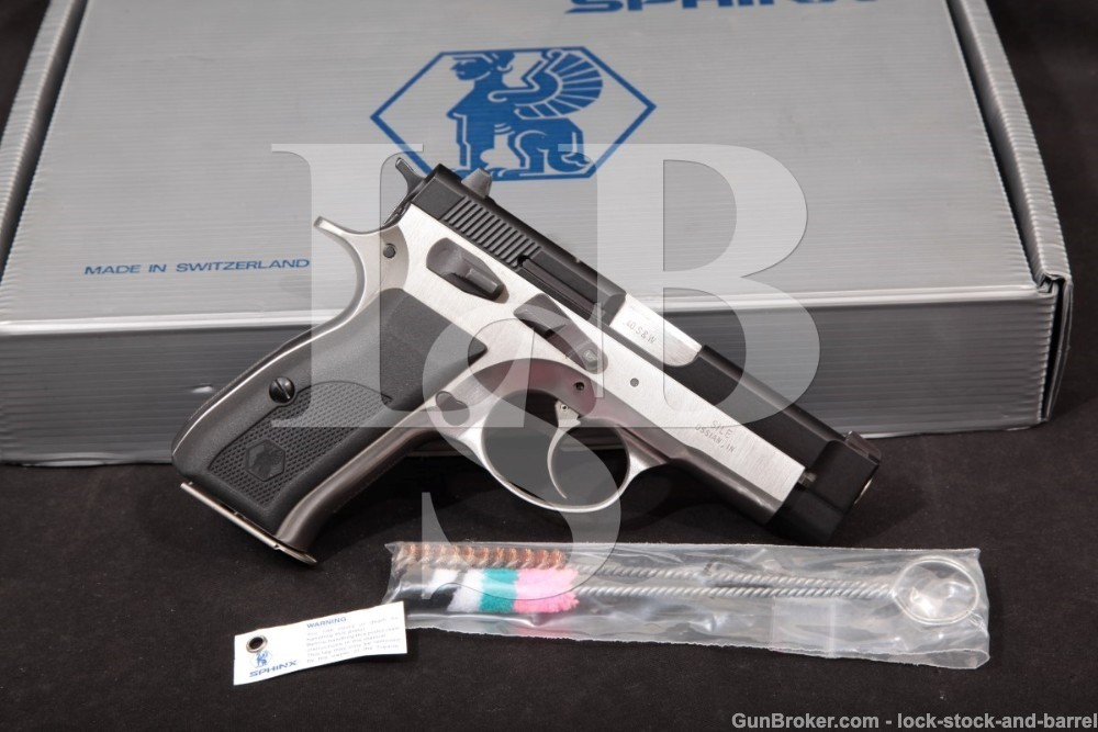 "Sphinx SwitzerlandModel AT2000P .40 S&W 3.66"" Double Action DA/SA Semi-Automatic Pistol"