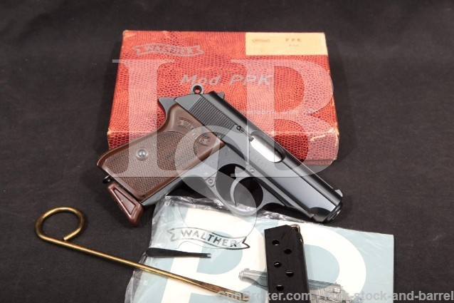 West German Walther Model PPK .380 ACP Semi-Auto Pistol & Box, MFD 1967 C&R