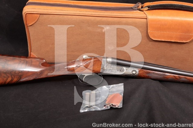 "Winchester Parker Reproduction Model DHE 28 Gauge 26"" Straight Stock SxS Shotgun, MFD 1984-89"