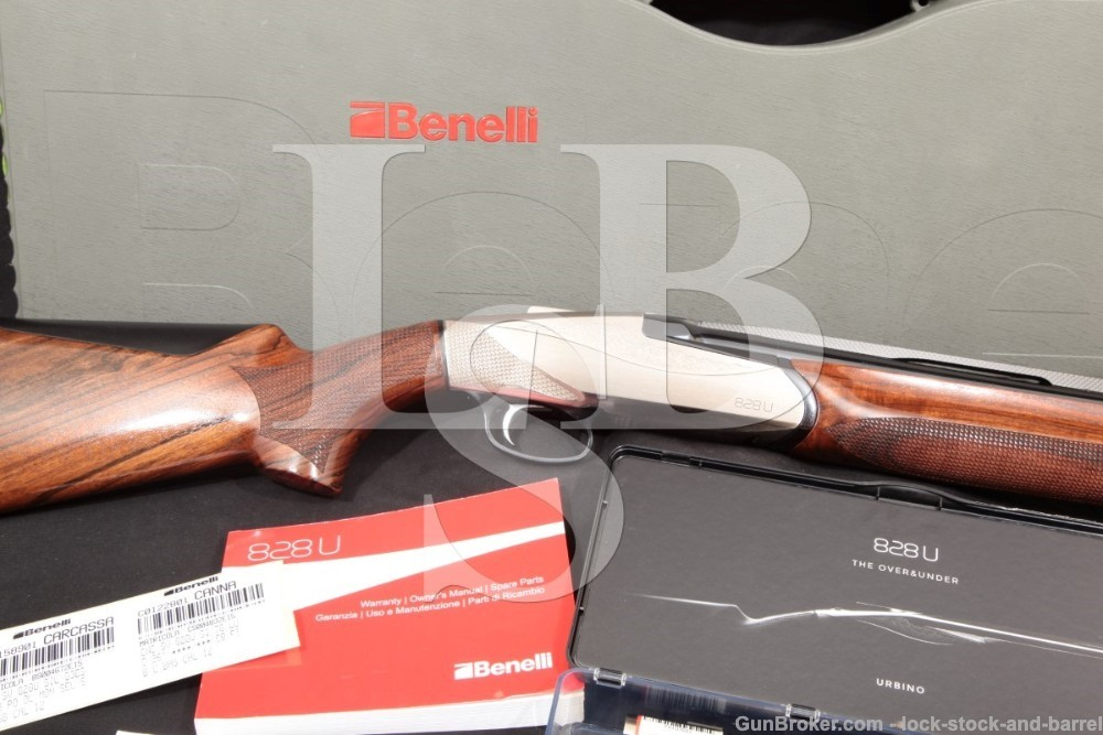 "Benelli 828U 828-U 10703 26"" 12 GA O/U Over / Under Double Barrel Shotgun, MFD 2015"