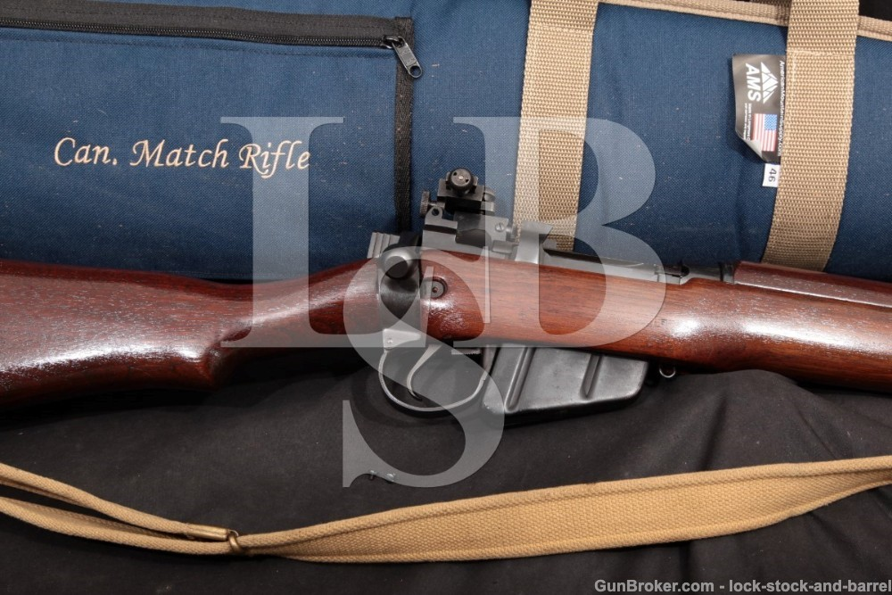 Enfield No4 MkI* Long Branch Canada .303 British Bolt Action Rifle & Competition Parker Hale PH5C Sight, MFD 1950 C&R