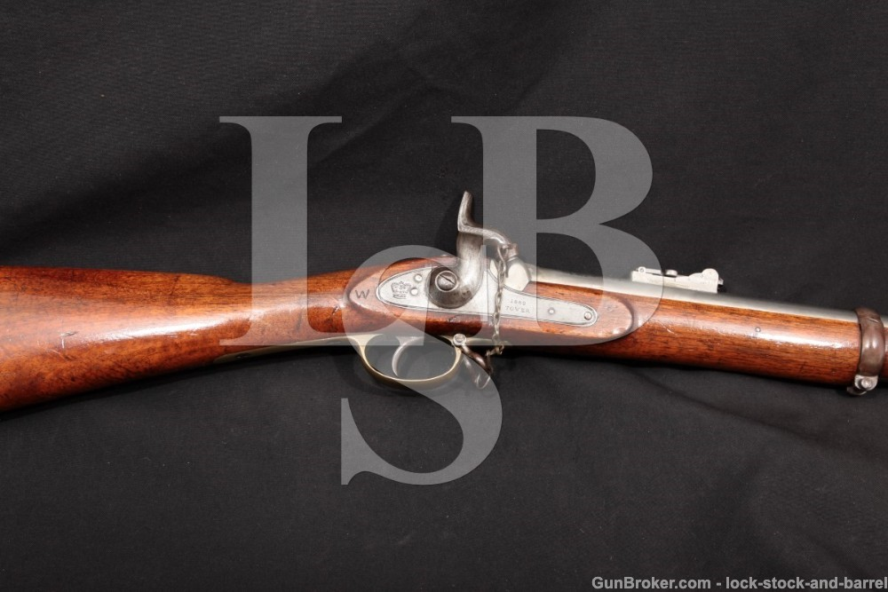 King & Phillips Confederate P-1853 Enfield .577 Cal Rifled Musket, MFD 1862