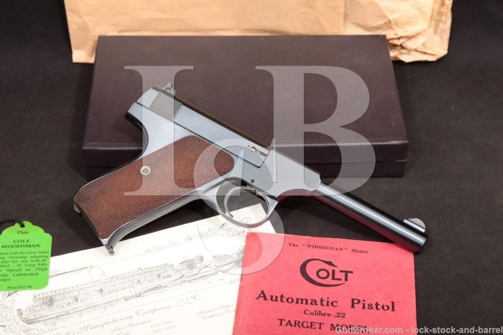 MINT Colt Woodsman 1st Series 4 1/2″ .22 LR Semi-Auto Pistol, MFD 1941 C&R