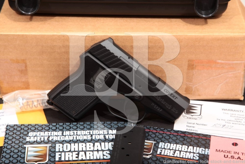 Rohrbaugh Model R9S Covert 9mm Semi-Auto Pistol & Box, MFD 2011