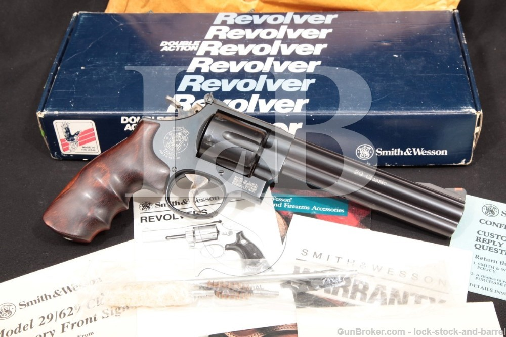 "Smith & Wesson S&W Model 29-5 Classic 101276 6.5"" .44 Mag Revolver, MFD 1991-94"