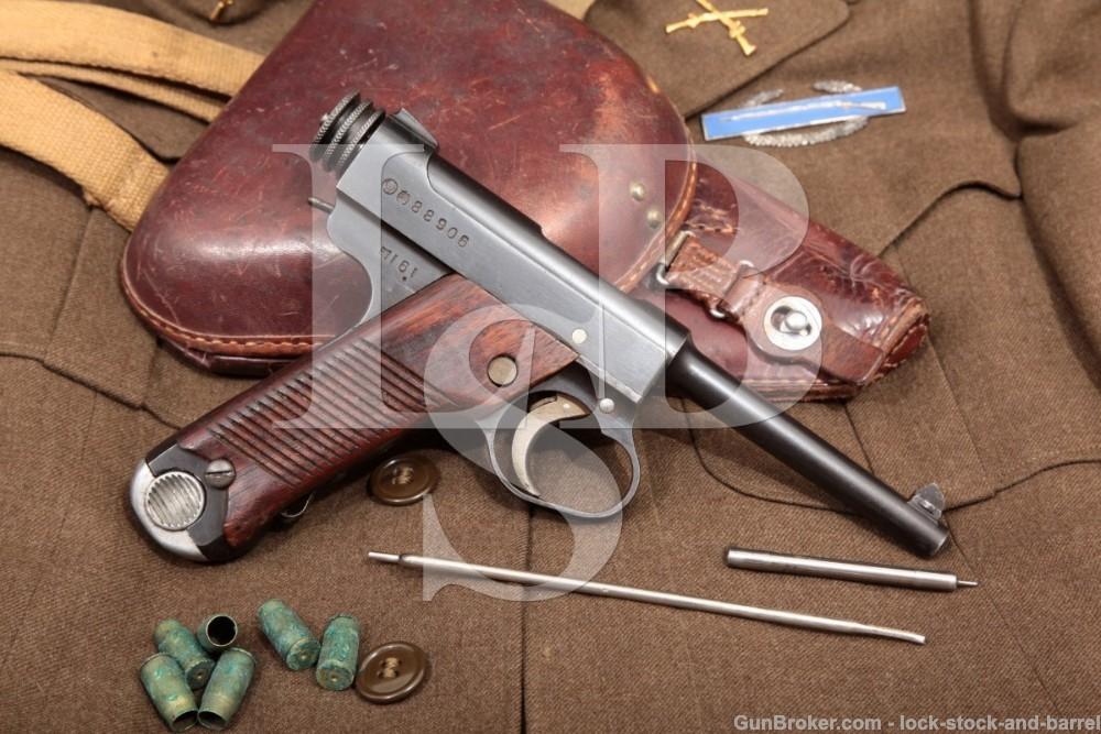 WWII Bringback Japanese Nagoya Nambu Type 14 8mm Semi-Auto Pistol, 1941 C&R