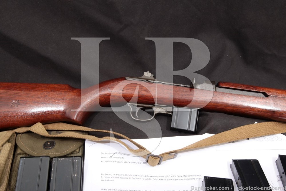 WWII Bringback Standard Products M1 Carbine .30 Cal. Semi Auto Rifle, MFD 1944 C&R