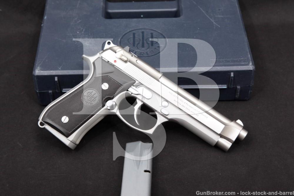 Beretta Italian 92FS Inox 9mm 4.9″ Stainless DA/SA Semi-Auto Pistol 1991