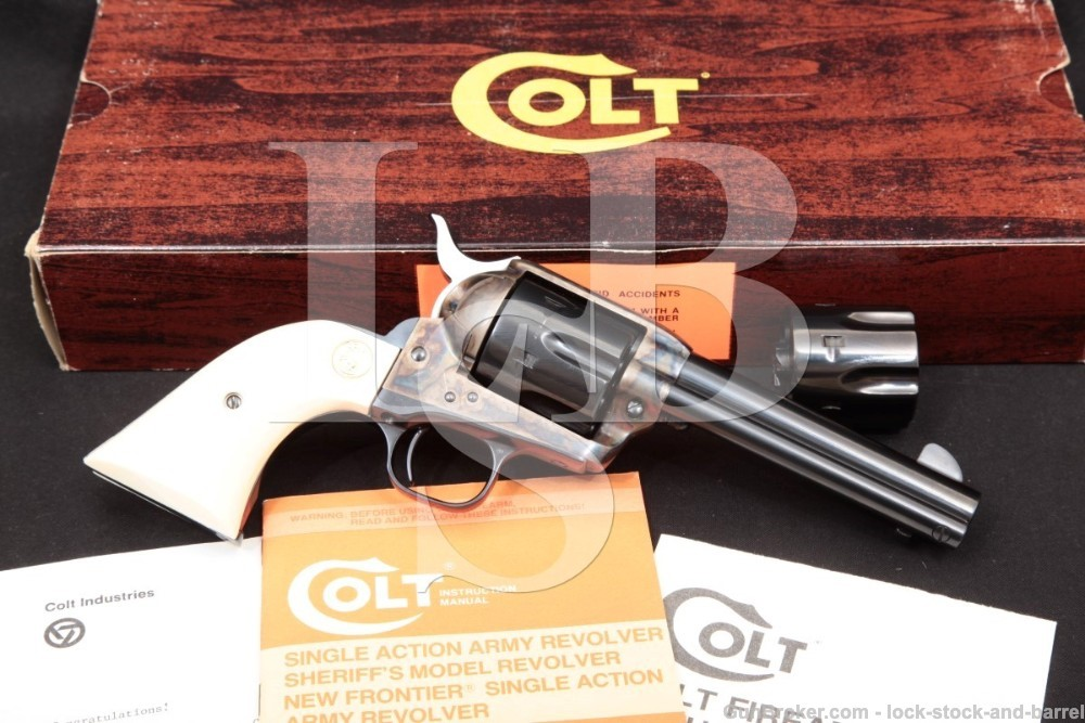 Colt Single Action Army SAA Armory Edition 1 of 500 Revolver & Box MFD 1983