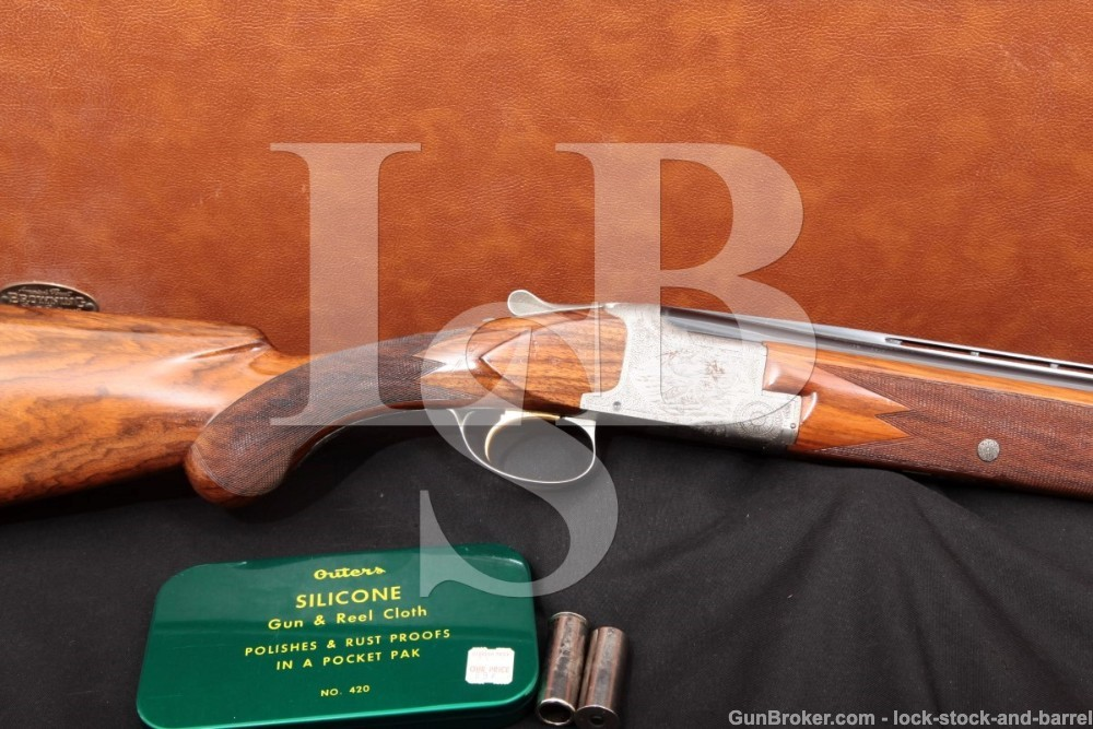 FN Browning Superposed Grade III Nelly Watrin Engraved 20 GA Over Under Shotgun, MFD 1960 C&R