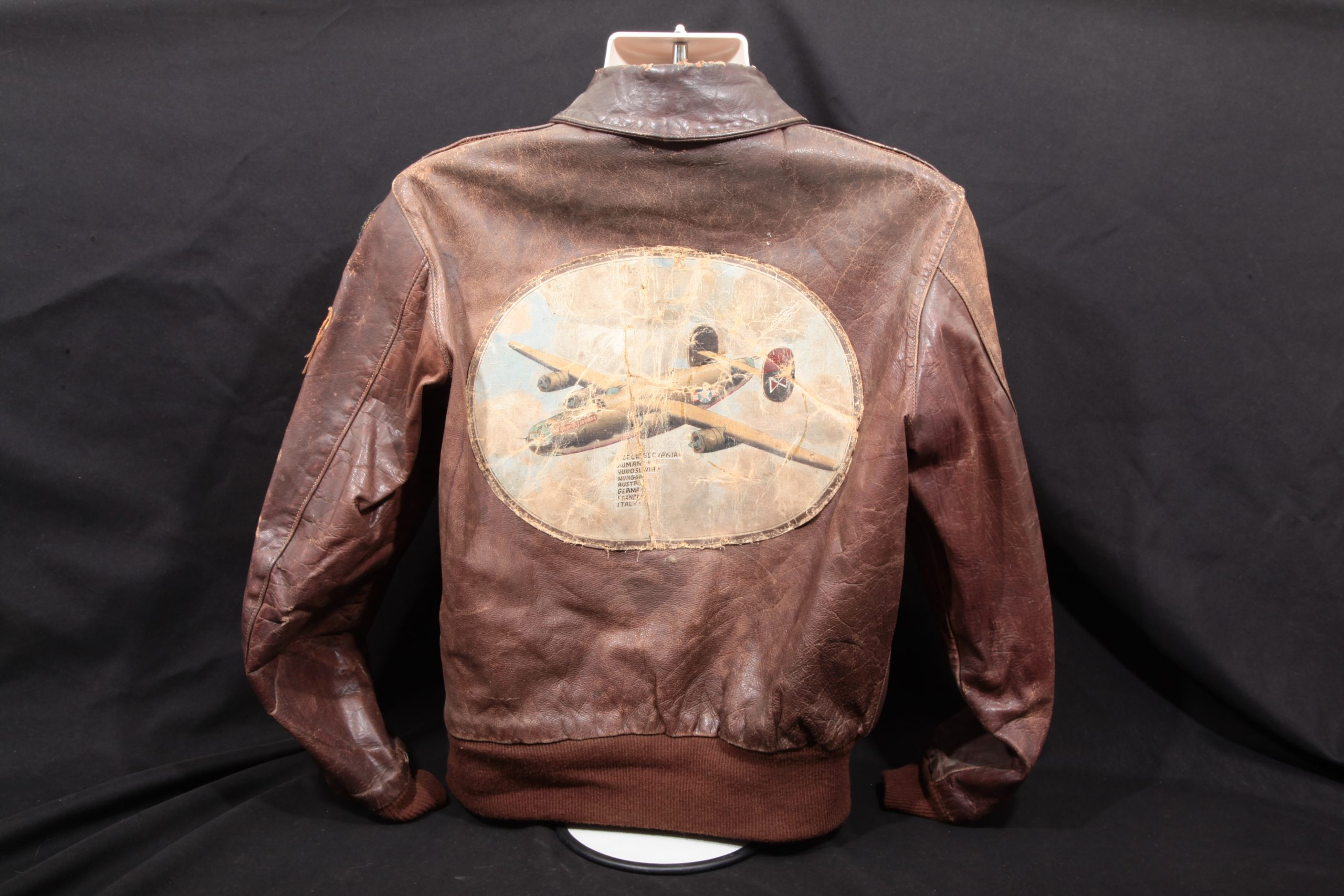 "C. J. Smith – WWII Painted B-24 ""Trouble Maker"" & Italian Patched A-2 Flight Jacket"