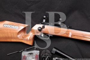 J.G. Anschutz 54.30 Match .22 LR Single Shot Target Rifle & More, MFD 2016