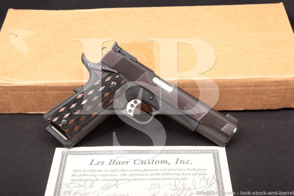Les Baer Premier II 1911 5″ Single Action 45 ACP Semi-Auto Pistol, MFD 2013