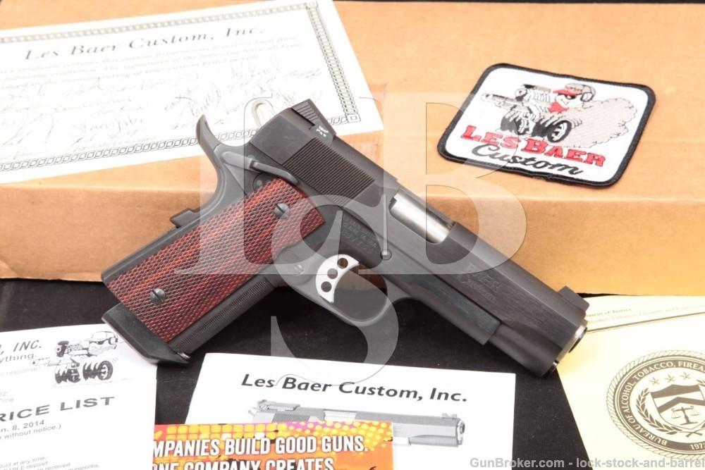 Les Baer Stinger 4 1/4″ .38 Super Compact 1911 Semi-Auto Pistol, MFD 2014