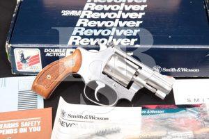 "Smith & Wesson S&W 63-3 104000 2"" Round Butt .22 LR Revolver & Box MFD 1992"