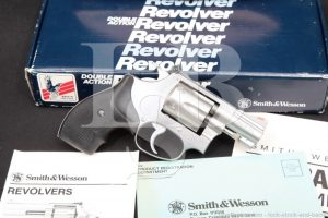 "Smith & Wesson S&W Model 63-3 Lew Horton #102405, 2"" .22 LR Double Action Revolver, MFD 1989"