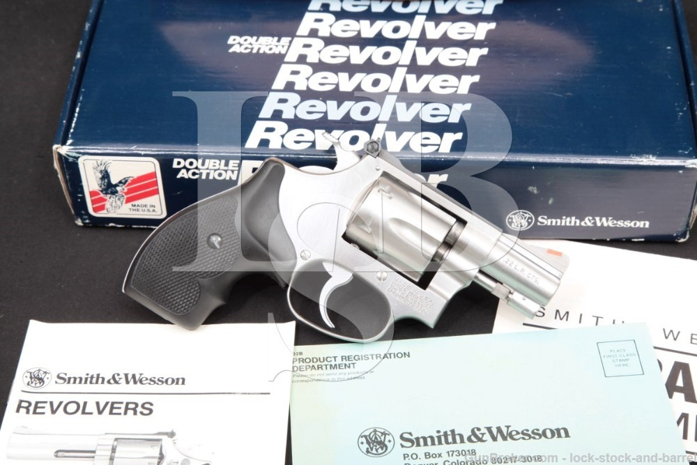 Smith & Wesson S&W Model 63-3 Lew Horton #102405, 2″ .22 LR Double Action Revolver, MFD 1989
