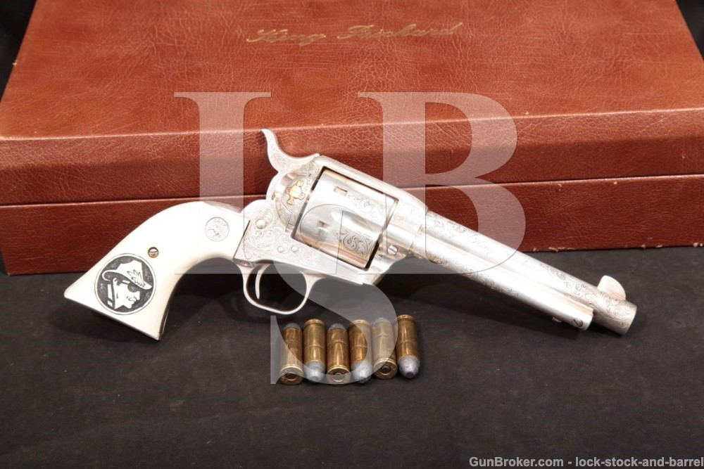 "U.S. Historical Society ""King Richard"" Colt Single Action Army SAA MFD 1993 1 of 100 Silver Engraved Richard Petty 45 Revolver"