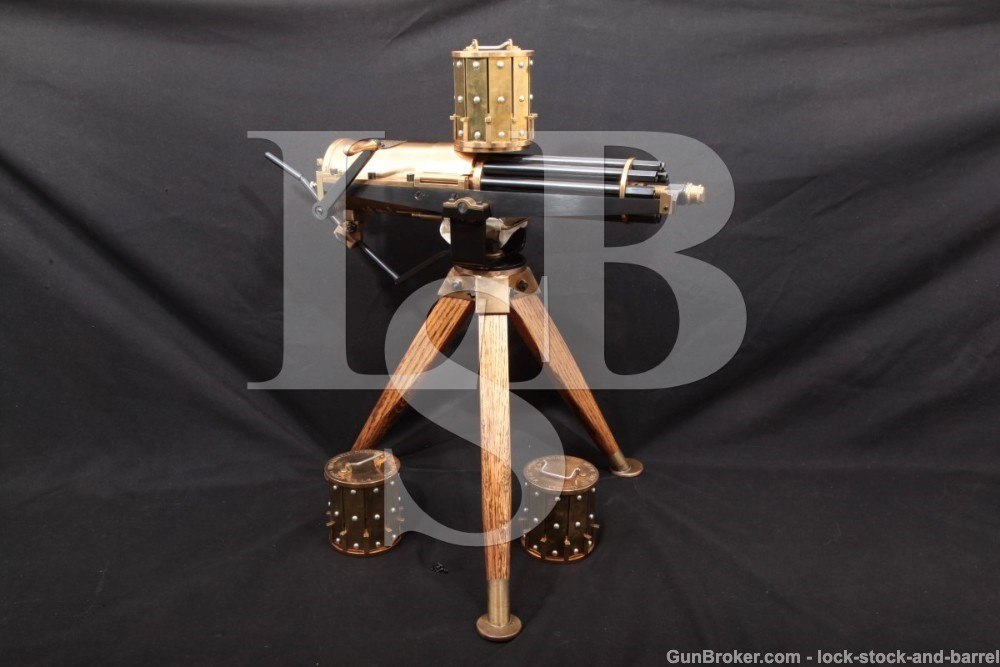 Valley Engraving Model 1878 .22 LR Miniature Colt Gatling Gun, MFD 1990s-2000s