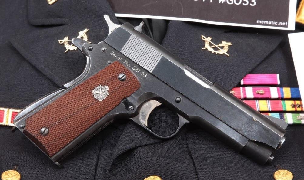 Rock Island Arsenal Model M15 General Officer's Pistol Issued to Ogbourne Duke Butler & Reissued to General Donald W. Hansen