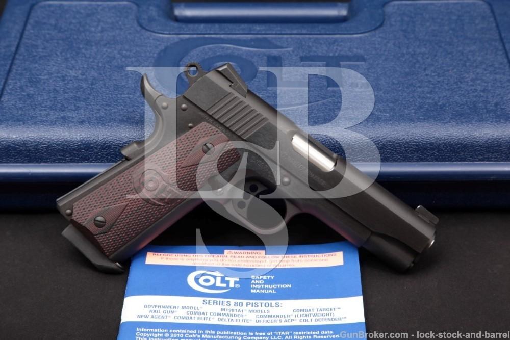 Colt Combat Commander 1911 Mod 04942XE 4 1/4″ 9mm Semi-Auto Pistol, 2017-19