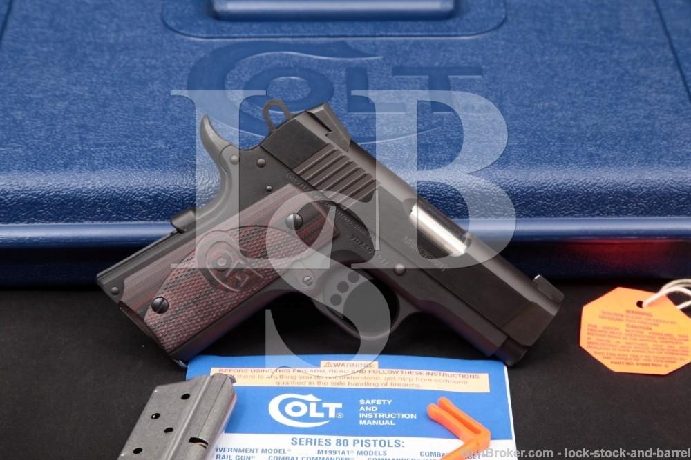 Colt Defender Lightweight Model 07802XE 3″ 9mm Semi-Auto Pistol, 2015-19