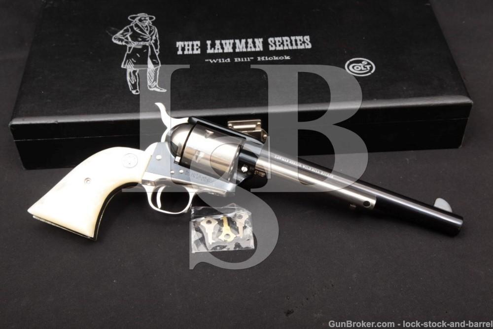 Colt Lawman Series Wild Bill Hickok SAA 1 of 500 .45 Revolver, MFD 1969 C&R