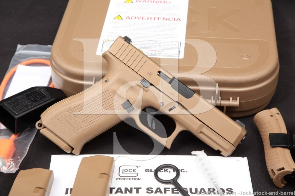 "Glock Model 19X G19X 9mm 4.02"" Coyote Brown Striker Fired Semi-Auto Pistol"
