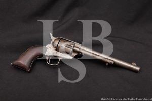 Matching Johnson & Casey Colt U.S. Cavalry Single Action Army SAA .45 Revolver, MFD 1875 Antique