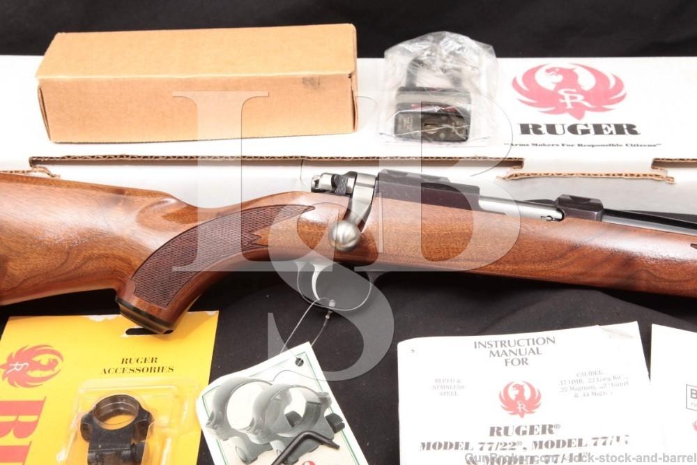 Ruger Model 77/17 .17 Mach 2 20″ Blue Detachable Mag Bolt Action Rifle 2006