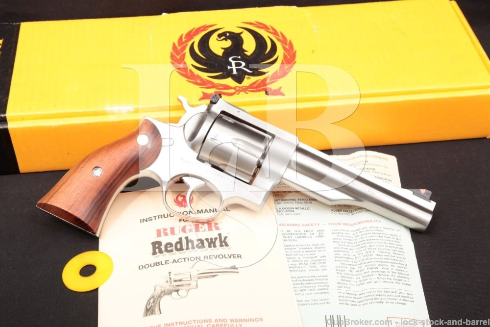 Ruger Redhawk .357 Magnum 5.5 INCH Stainless Double Action DA/SA Revolver 1984